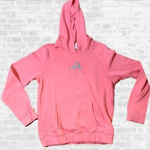 Adidas jewel studded pink hoodie - hooded sweater